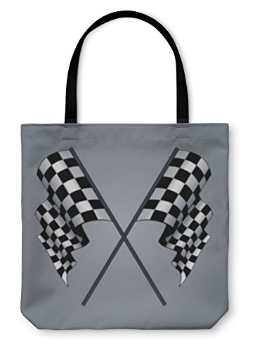 Gear New Shoulder Tote Hand Bag, Checkered Flag, 13x13, 3369800GN