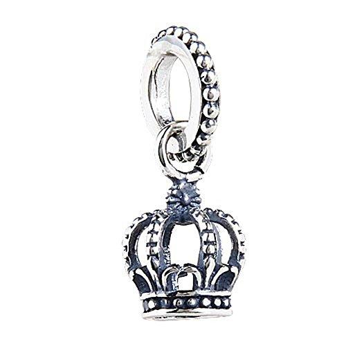- Choruslove Dangle Noble Crown Charms European Bead Fit 3mm Bracelet