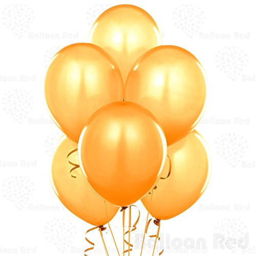 12 Inch Pearlized Latex Balloons (Premium Helium Quality), Pack of 24, Metallic Gold