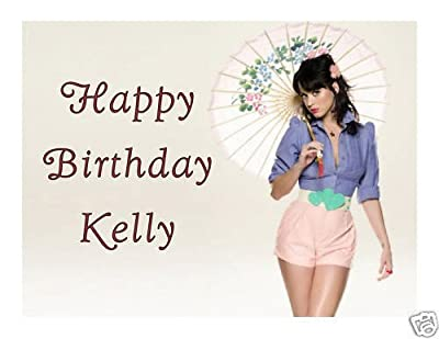 Katy Perry edible cake image cake topper frosting sheet birthday