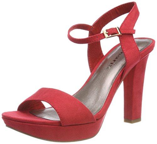Tamaris Rosso Caviglia alla Red Donna con 28398 Cinturino Sandali r0qxXwarHS
