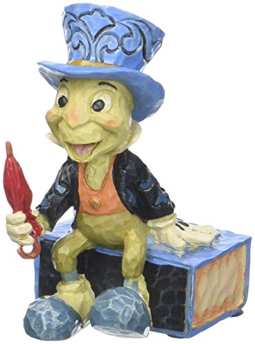 "Enesco Disney Traditions by Jim Shore Pinocchio Jiminy Cricket Miniature Figurine, 2.75"", Multicolor"