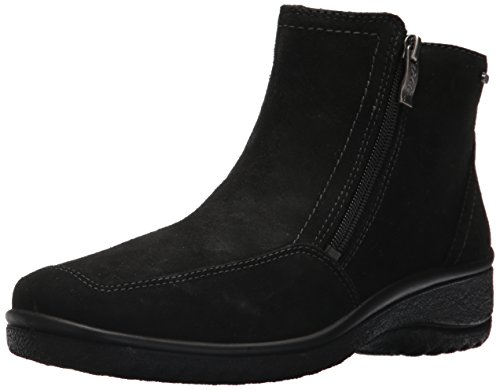 ara Women's Mila Ankle Boot, Black Suede, 8.5 M US ()