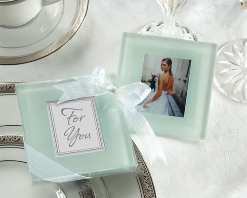 (Forever Photo Frosted Glass Coasters - Baby Shower Gifts & Wedding Favors (Set of 24))