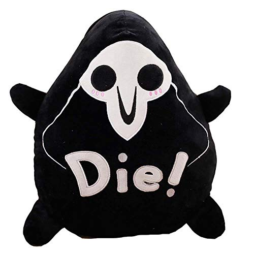US_LevinArt 40cm/15.8in Reaper Plush Toys Round Pillow Seat Cushion Cute Figure Halloween Toy Over-Watch Cool Reaper Plush Pillow