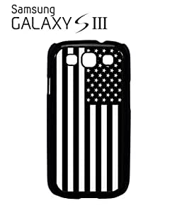 American Flag Black and White Mobile Cell Phone Case Samsung Galaxy S3 Black