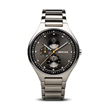 BERING Time 11741-702 Men's Titanium Collection Watch with Titanum Band and scratch resistant sapphire crystal. Designed in Denmark.