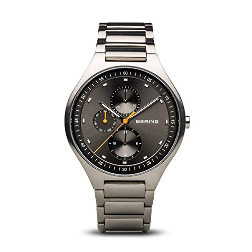 BERING Time 11741-702 Mens Titanium Collection Watch with Titanium Band and Scratch Resistant Sapphire Crystal. Designed in Denmark.