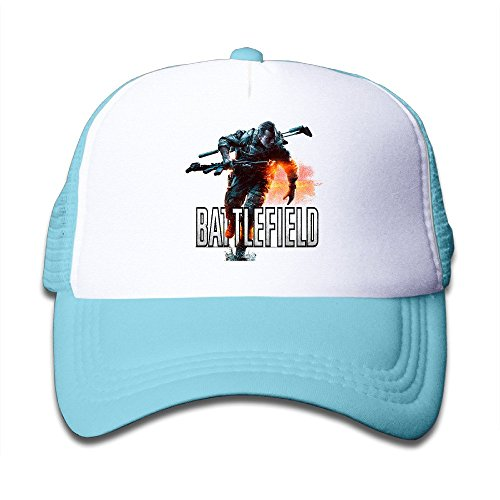 YQUE Girls Summer Hats Mesh Game Logo SkyBlue