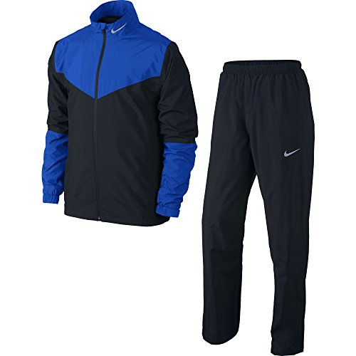 Nike Golf Storm-FIT Rainsuit (Black/Hyper Cobalt/Reflective Silver, X-Large)