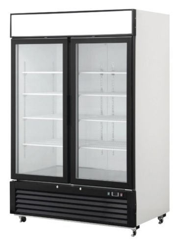 - 2 Door Glass Front Reach In Freezer Merchandiser Commercial MCF8712