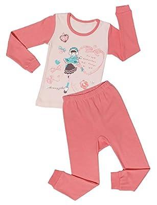 ChummyChummy Soft Cotton Girls Pajamas Little Kids PJS Sets Clothes Size 4T-12T