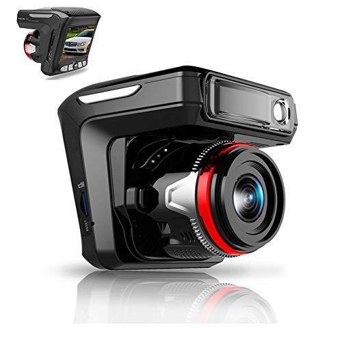 XIAOJIE Hd 1080P Driving Recorder, Dashboard Camera, Comes with Radar, 2.4 Inches Screen 170°Wide Angle, Loop Recording and Collision Detection,Singlelens