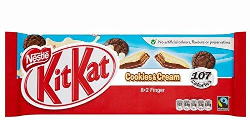 Kit Cookies Cream Fingers 166g
