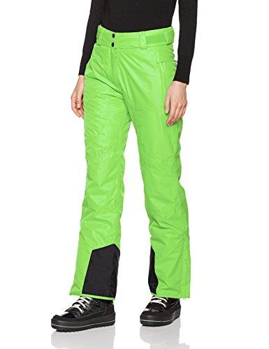 Black crevice Pantalones de esquí para mujer Verde
