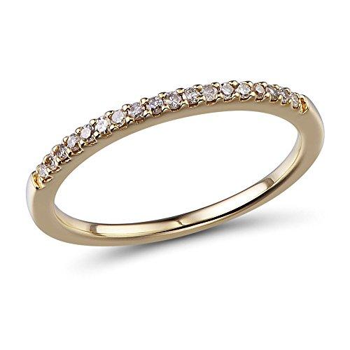 10k Yellow Gold Petite Diamond Wedding Ring 1/10 cttw (HI, I2-I3)