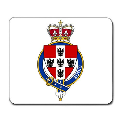 Diggs England Family Crest Coat Of Arms Mouse Pad