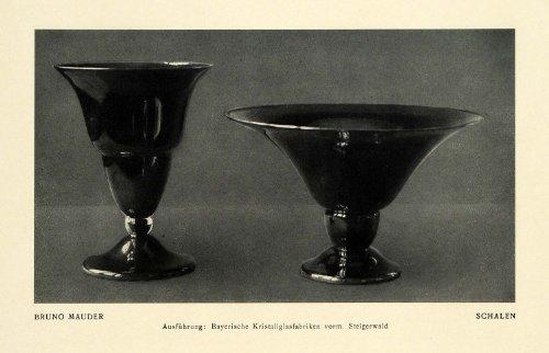 96 Antique Ceramic (1915 Print Shells Ceramic Vase Cup Mold Bowl Pottery Schalen Bruno Mauder Shells - Original Halftone Print)