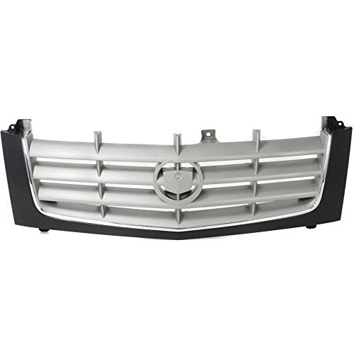 Escalade Cadillac Cross (Grille for Cadillac Escalade 02-06 Cross Bar Insert Plastic Paint To Match W/Chrome Insert Opening Molding)