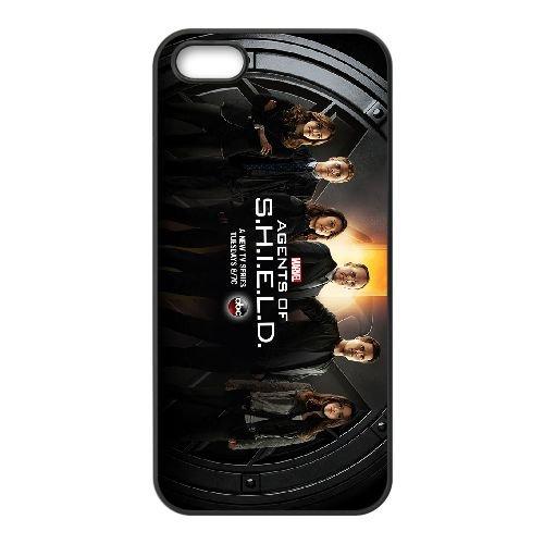 Agents Of S.H.I.E.L.D 001 coque iPhone 5 5S cellulaire cas coque de téléphone cas téléphone cellulaire noir couvercle EOKXLLNCD21424