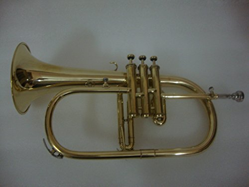 OSWAL Bb Flat Brass Finishing Flugel Horn With Free Hard Case+Mouthpiece by OSWAL
