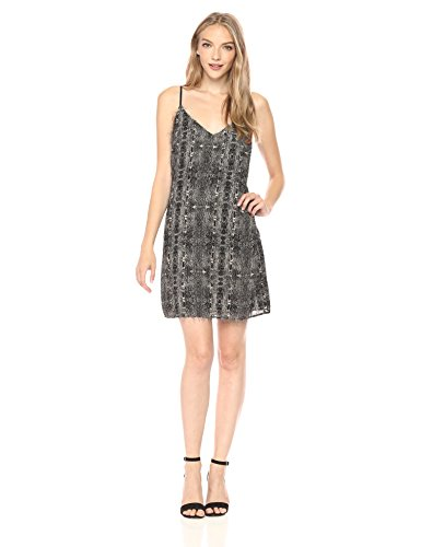 Guess Women's Goldie Sleeveless Slip Dress, Jet Black/Multi, (Guess Slip)