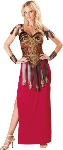 InCharacter Costumes Women's Gorgeous Gladiator Costume, Red/Brown, Small (Gladiator Costumes For Women)