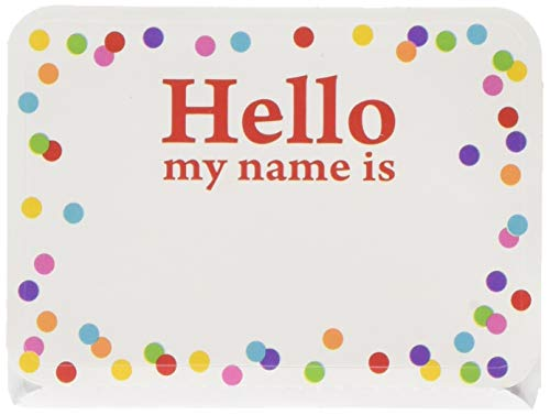 (amscan Party Name Tags, 2 1/2 x 3 1/2 inches, Multi, 100)