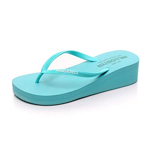 l Flip L Blue Mesdames Tongs Sandales Lâche Couleur Flops Pantoufles Femmes Unie Tongs Blue O5aP1RqTwq