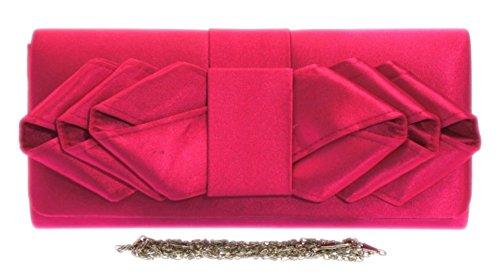 Colors Bride Shoulder Elegant Occasions Satin Bag Wedding Pink Clutch Girly Handbags Prom Retro Events Pleats x8Bvw87q0