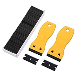 FOSHIO 2PCS Yellow Plastic Razor Paint S...
