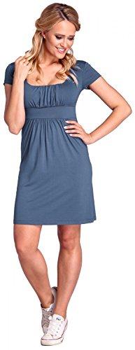 Glamour Empire para mujer Vestido estilo jersey Vestido de corte imperio. 081 Azul Jeans