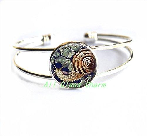 Beautiful Bracelet,Garden Snail - Gardener Gift - Garden Snail Bracelets - Snail Bracelet - Snail Jewelry - Escargot - Snail Shell,AS0204