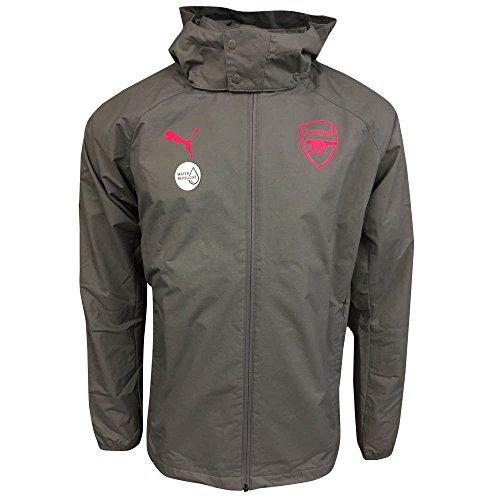 2017-2018 Arsenal Puma Performance Rain Jacket (Steel Grey) - Grey Steel Rain Jacket
