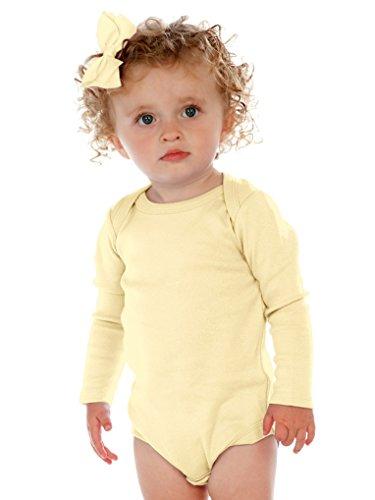 Kavio! Unisex Infants Lap Shoulder Long Sleeve Onesie Lemon 12M -