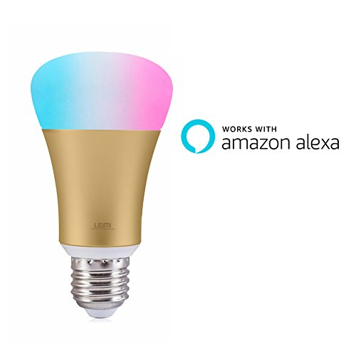 LEIMI-Smart-LED-Light-Bulb-Wi-Fi-Dimmable-Multicolored-Color-Changing-Party-Lights-Bulb-Smartphone-Controlled-Sunrise-Wake-Up-Lights60W-Equivalent-Works-with-Amazon-Echo-Alexa