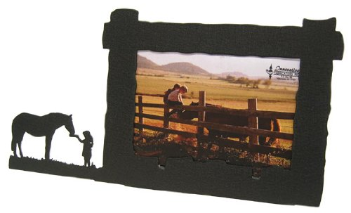 Girl Feeding Horse 4X6 Horizontal Picture Frame