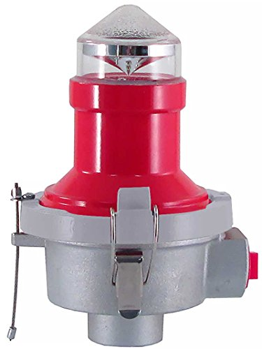 LED Tower Obstruction Light, Aircraft Warning Light, L-810 Red Beacon - 120VAC with 3/4