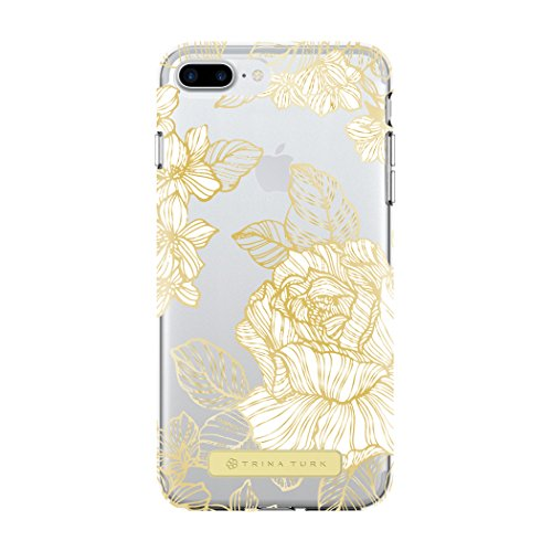 Price comparison product image Trina Turk iPhone 7 Plus Case, Translucent Case [Protective] Cover fits Apple iPhone 7 Plus - Astors Garden White/Gold/Clear