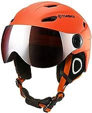TOM SHOO Ski Snowboard Skateboard Helmet Anti-Fog Anti-UV Adjustable Windproof Warm Detachable Liner Certified