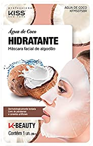 Kiss NY Professional Máscara Facial de Algodão- Água de Coco, Kiss New York Professional