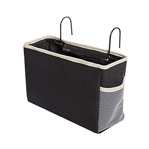 - Bverionant Bedside Storage Hanging Organizer Basket Pocket Bunk Bed Remote Book Holder Black