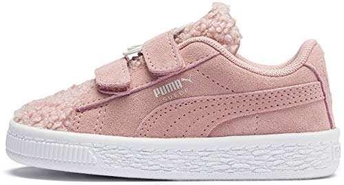 Mocha Suede Footwear - PUMA Baby Suede Monster Velcro Sneaker, Bridal Rose-Mocha Mousse, 9 M US Toddler
