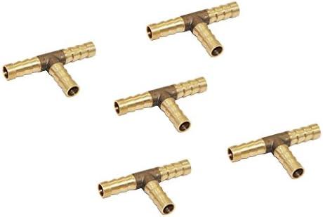 全5サイズ 配管 T コネクタ 5個 真ちゅう 継手 燃料ホース 空気 水 ホース コネクタ 交換用 - 8mm