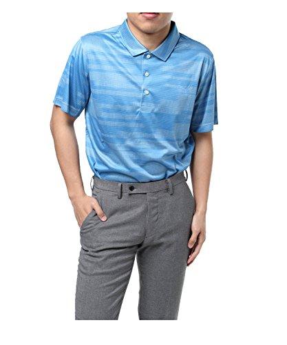 プーマ ゴルフウェア ポロシャツ 半袖 パウンスストライプ 576473 03ブルー XL