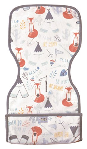 Goo-Goo Baby Miracle Burp Pad, White/Black/Grey/Orange