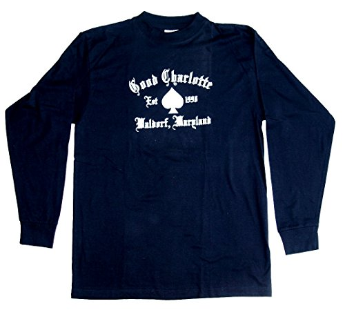 Langarmshirt Good Charlotte Nr. 1 Größe L Baumwolle schwarz beidseitig Siebdruck