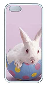 Lovely Red Eyes Of Rabbits - iPhone 5S Case Funny Lovely Best Cool Customize White Cover