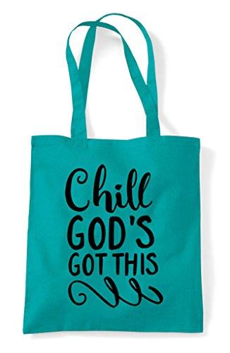 Tote Emerald Bag This Chill Shopper Got Religious Statement Gods 1n8fB