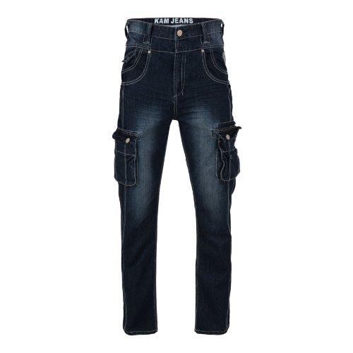 Kam Herren Jeanshose blau Blau - Washed Blue